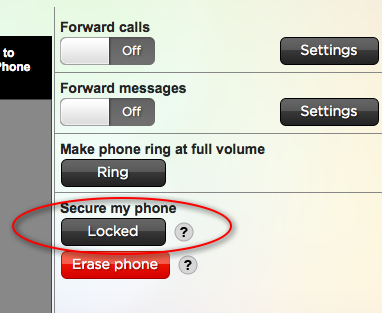 htc desire hd can be locked remotely,