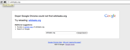 only wikileaks dns still accessible